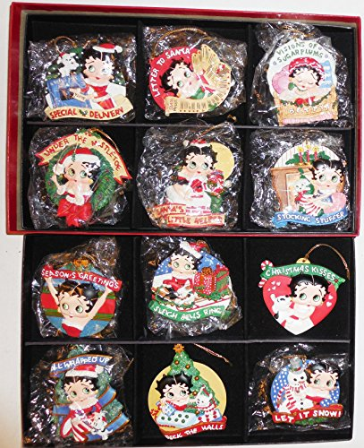 The Danbury Mint The Betty Boop Ornament Collection Set Of 12 Hanging Ornaments