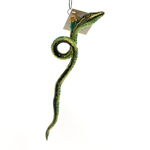 Christina's World SNAKE Glass Ornament Reptile Zoo874 Green