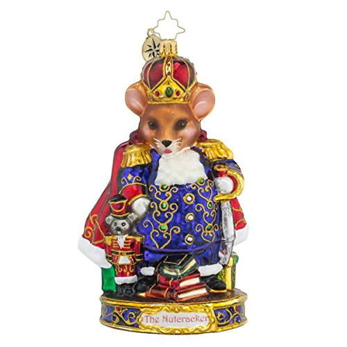Christopher Radko Mouse King Glass Christmas Ornament – Nutcracker Series – New for 2016 – 7″h.