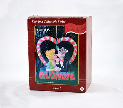 Blondie and Dagwood Kissing Under Mistletoe Ornament