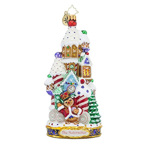 Christopher Radko the Land of Sweets Candy and Gingerbread Themed Glass Christmas Ornament – Nutcracker Series – New for 2016 – 7″h.