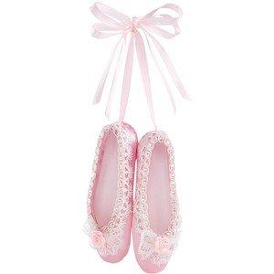 Holiday Lane Ballet Slipper Ornament Pink Ballerina Christmas Ornament