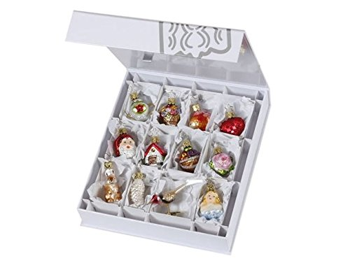Inge Glas The Bridal Collection Mini Wedding German Glass Ornament Set of 12