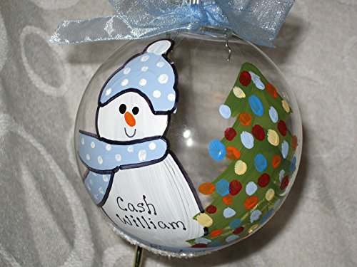 Baby's First Christmas – Hand-painted personalized ornament