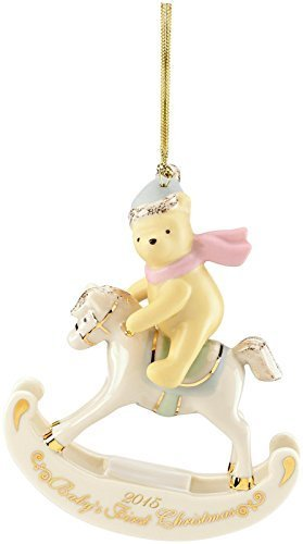 Lenox 2015 Disney's Winnie the Pooh Baby's 1st Christmas Ornament by Lenox