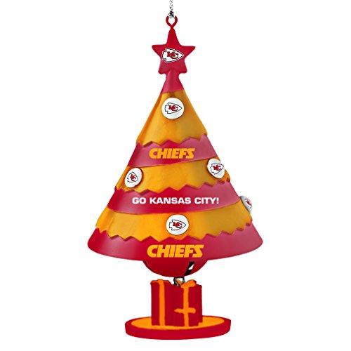 NFL Kansas City Chiefs Tree Bell Ornament, Red, 5″