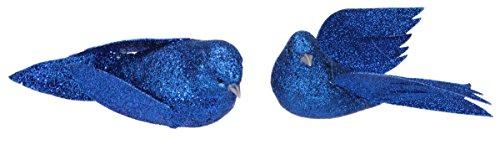 Christmas Holiday Blue Dove Ornament Decoration – Bundle 2 Pack