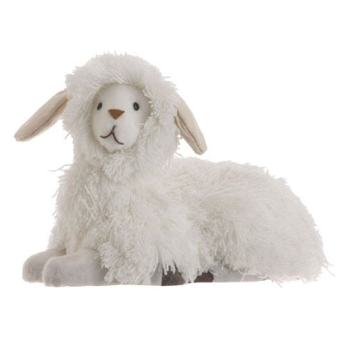 RAZ Imports – Easter / Spring Fluffy White Spring Lamb 7.5″
