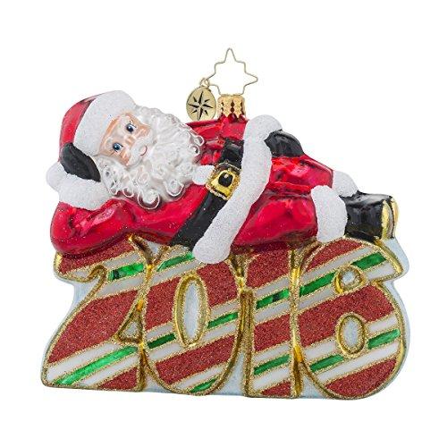 Christopher Radko 2016 a Restful Year Santa Glass Christmas Ornament – 5″h.