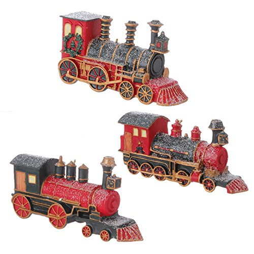 RAZ Imports 4.5″ Glittered Polar Express Train Tree Ornaments Set of 3