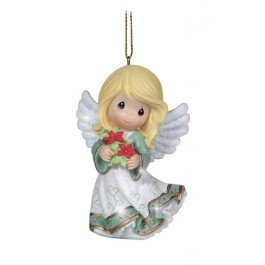 Precious Moments Angel With Flowers Ornament