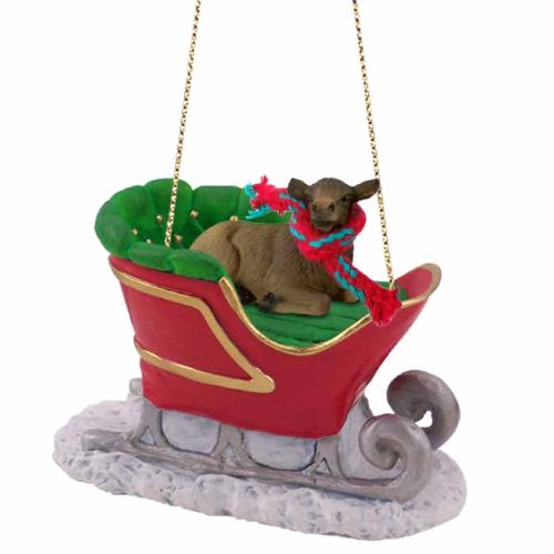 Elk Cow Sleigh Ride Ornament