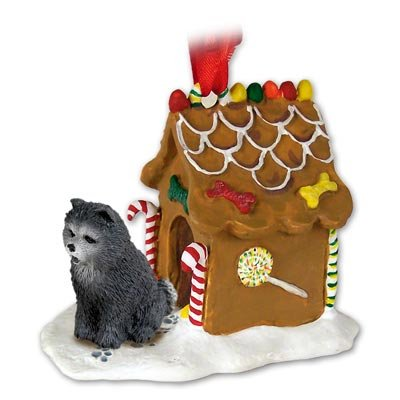 Chow Blue Ginger Bread House Ornament