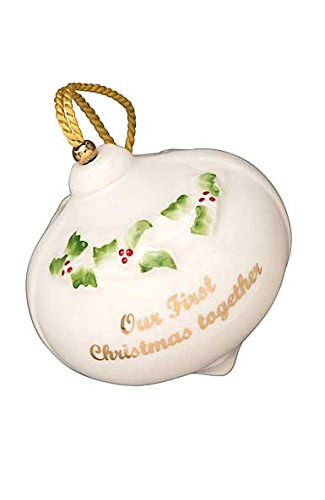 Belleek Our First Christmas Bauble