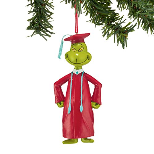 Department 56 Classics Grinch Graduating Grinch Ornament