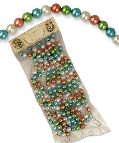Bethany Lowe 9′ Strand Pastel Color Bead Tree Garland