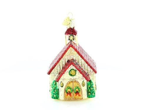 Old World Christmas Chapel Glass Blown Ornament