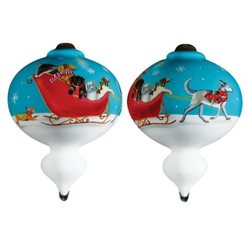 Precious Moments Christmas Gift, Sarah Summers Sled Dogs, Glass, 7161173