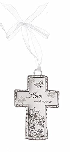 Cross Ornament By Ganz- Love One Another