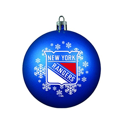 NHL New York Rangers Shatterproof Ball Ornament, 3.125″, Blue