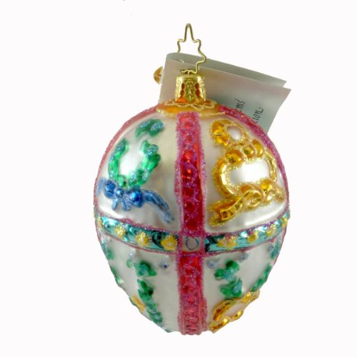 Christopher Radko FABULOUS FABERGE GEM Glass Ornament Spring