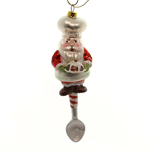 Mark Roberts SANTA ELF KITCHEN Glass Utensils Spoon Brush 3653902 Santa
