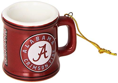 NCAA Alabama Crimson Tide Mini Mug Ornament, 2.25″, Red