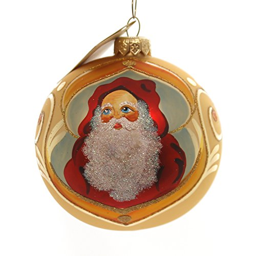 Christina's World RED HOOD SANTA Glass Ornament Ball Tree Gif484