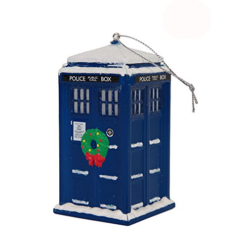 Doctor Who TARDIS Police Box Christmas Tree Ornament – 4″ x 2″