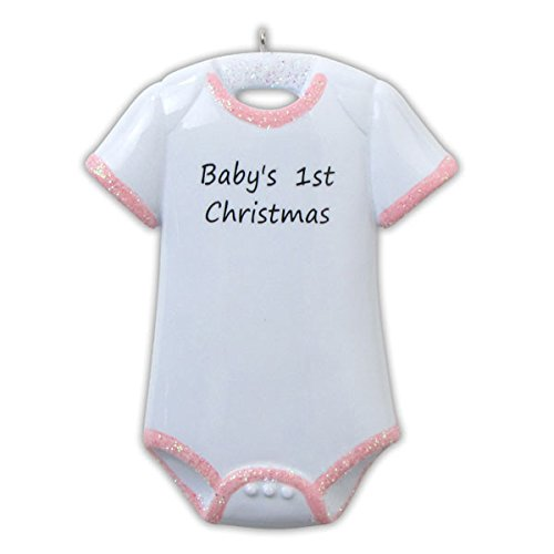 Baby's First Christmas Onesie (Girl) Ornament