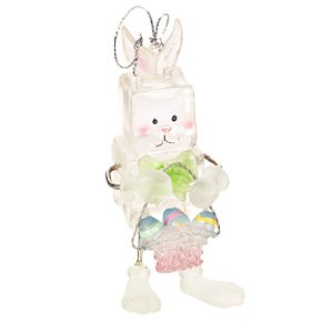 Ice Fellas Bunny with Basket Ornament