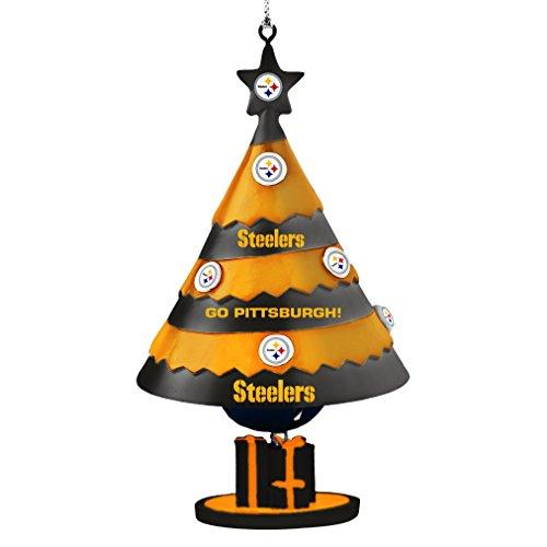 NFL Pittsburgh Steelers Tree Bell Ornament, Black, 5″
