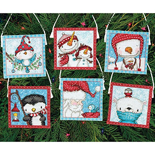 Dimensions Crafts 70-08940 Needlecraft Frosty Friends Ornaments in Counted Cross Stitch