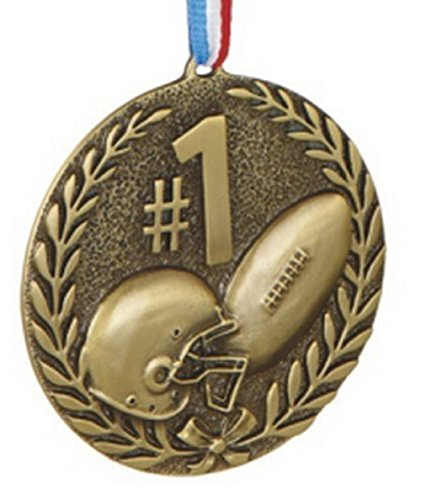 #1 Football Sports Medal Ornament