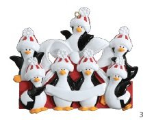 Penguin Family/7 Personalized Ornament