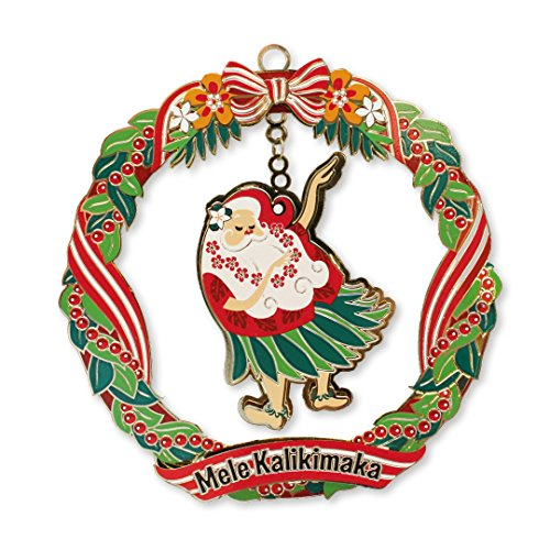 Metal Die Cut Ornaments HULA SANTA