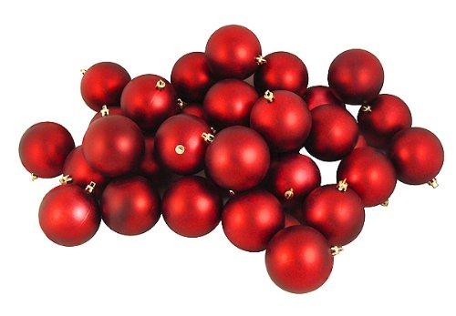Vickerman Matte UV Ball Set, Includes 12 Per Box, 4-Inch, Red