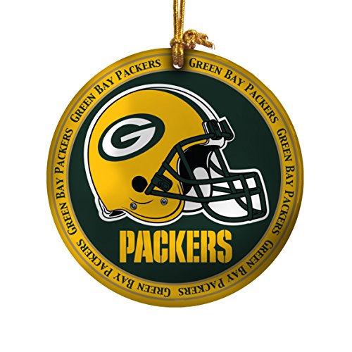 NFL Green Bay Packers Ceramic Plate Ornament, Green, 2.25″