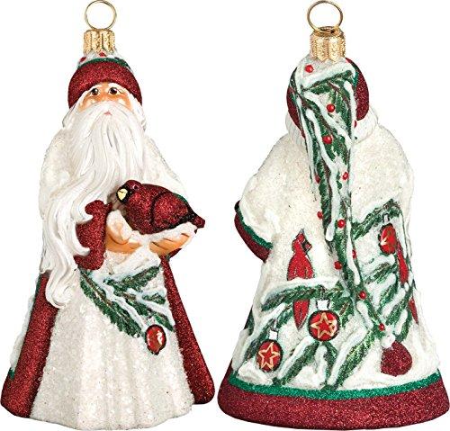 Glitterazzi Cardinal Santa Ornament by Joy to the World