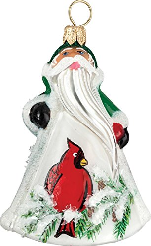 Glitterazzi Mini Cardinal Santa Ornament by Joy to the World