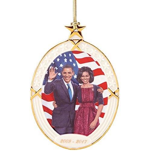 Lenox Ebony Visions President Obama & First Lady Ornament
