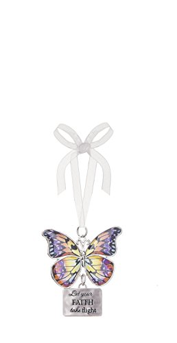 Ganz Home Decor Christmas / Spring Blissful Journey Butterfly Ornament (Let you Faith take flight EA13540)