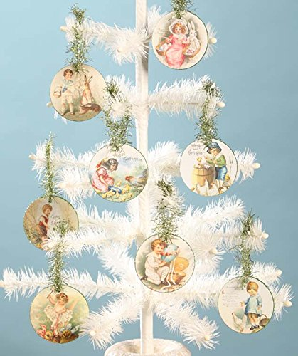 Bethany Lowe Vintage Style Easter Disc Ornament Set of 8