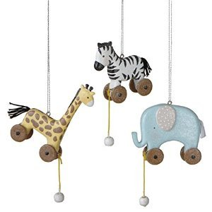 Set of 3 Animal Pull Toy Ornaments – Gift Boxed