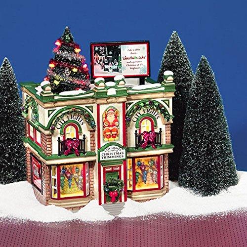 Department 56 Original Snow Village City Lights Christmas Trimmings Lighted Building