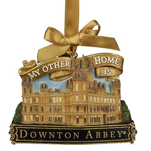 Kurt Adler Resin Downton Abbey Castle Ornament, 3.5-Inch