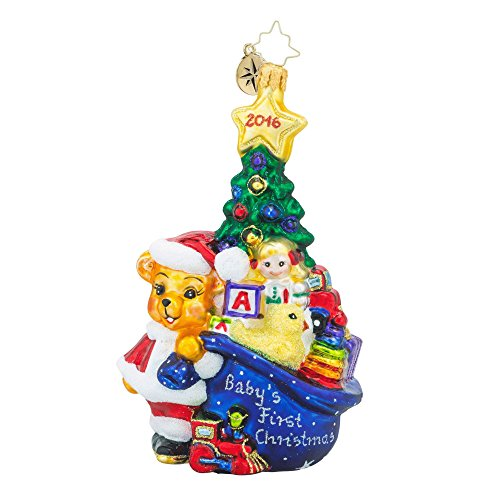 Radko First Glimpse Bear Baby's First Christmas 2016 Ornament