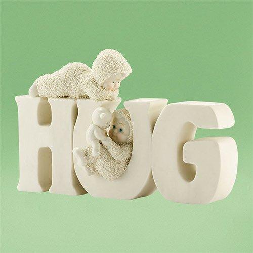 Snowbabies Classics H-U-G Ornament, 4.75-Inch