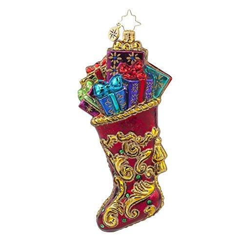 Christopher Radko Regal Stocking Glass Christmas Ornament – 5.25″h.