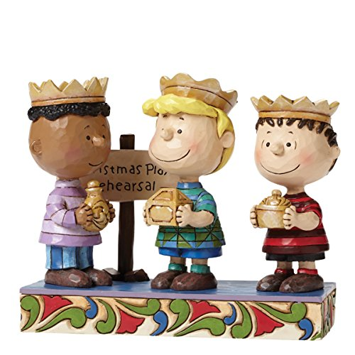 Jim Shore for Enesco Peanuts Three Wise Men (2nd in Series) Figurine, 4.6″